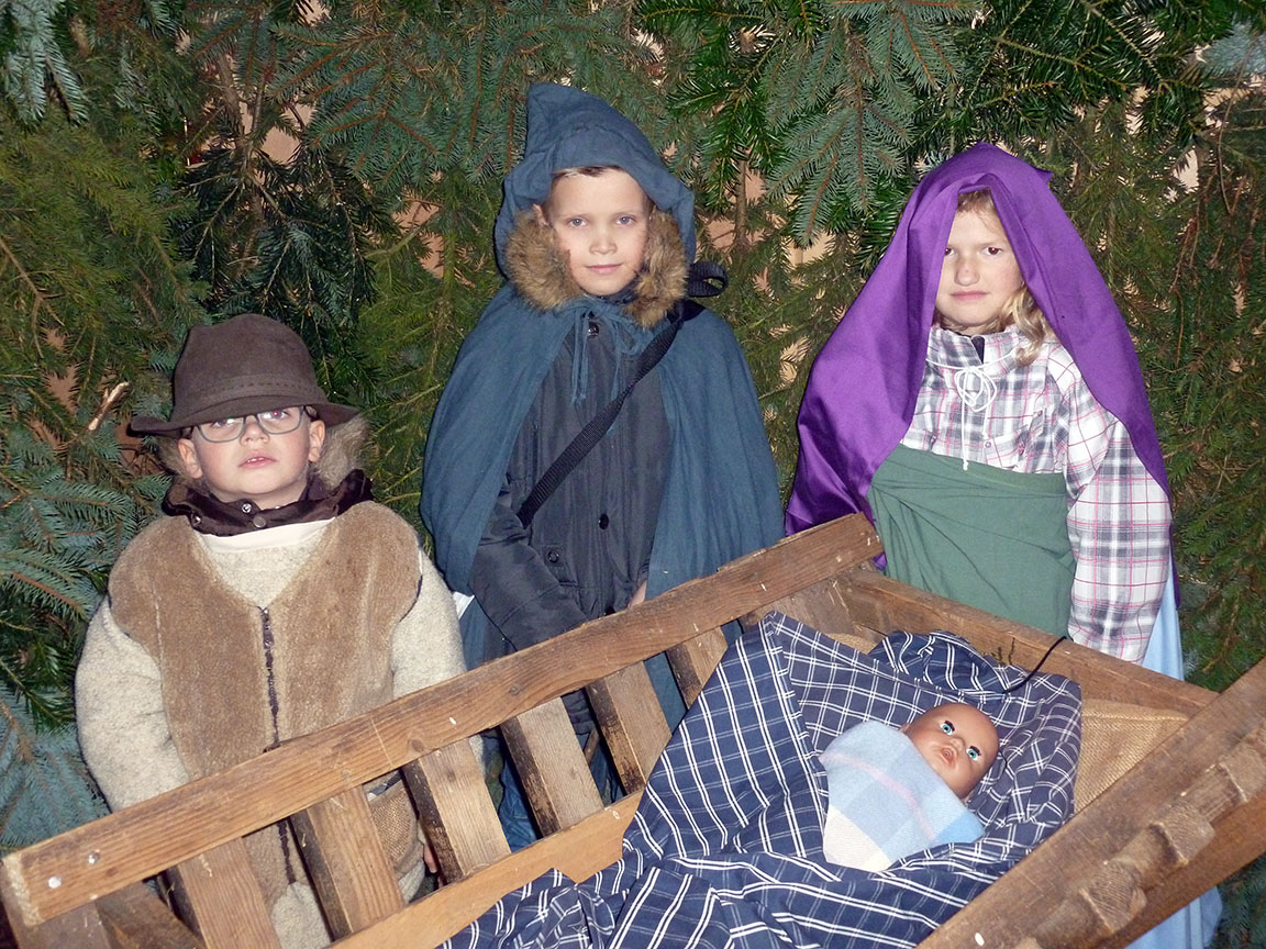 Die Lebende Krippe hatte am ersten Weihnachtsmarktwochenende Premiere. (Foto: oe)
