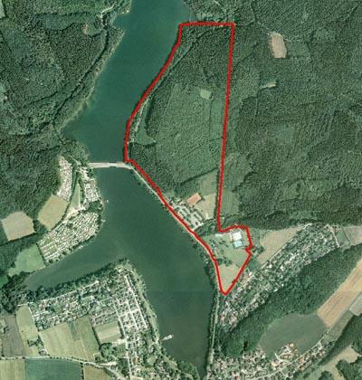 Plangebiet der Ferienhausanlage Amecke. Der Investor sagt, er will auf jeden Fall 2014 mit dem Bau beginnen. (Foto: Stadt Sundern)