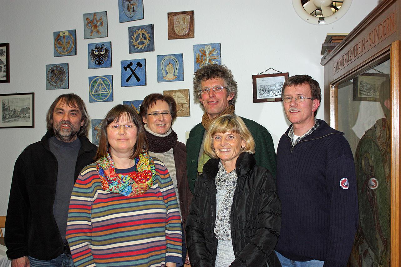 Der neugewählte Vorstand des GRünen-OV Sundern. Von links: Fritz Arndt-Quandt, Dorothea Schulte- Huermann, Anke Rose. Antonius Becker, Irmgard Haarmann- Schütz und Andreas Lux.