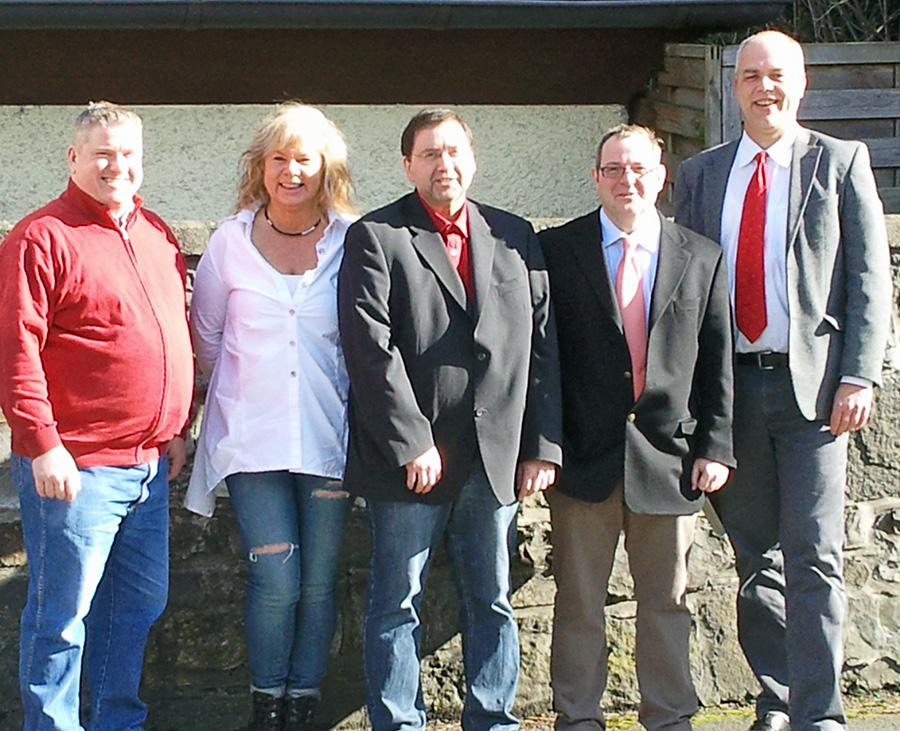 Der Vorstand der Herdringer SPD mit dem Bürgermeisterkandidaten Gerd Stüttgen (r.). (Foto: SPD)