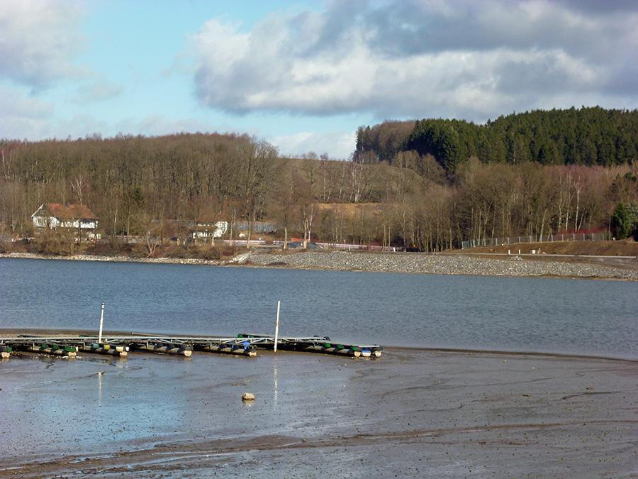Blick auf das Ostufer des Amecker Vorbeckens . (Foto: oe)