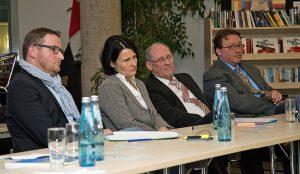 Vier Arnsberger Schulleiter in der Expertenrunde. (Foto: CDU)