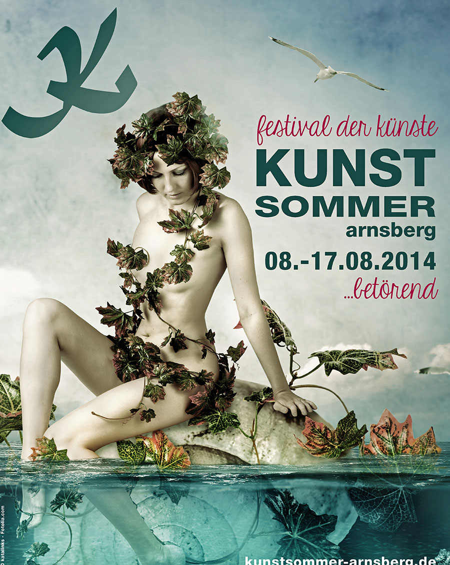 "Das Plakat des Kunstsommers 2014 mit dem Motto ""betörend""."