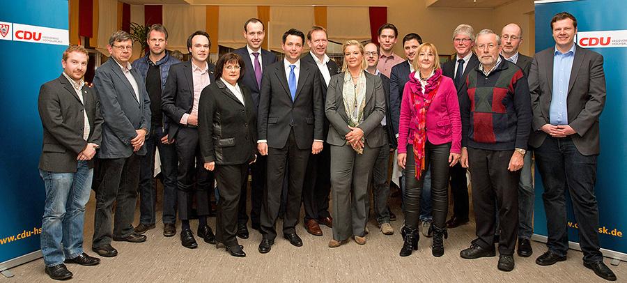 Ein deutlich verjüngtes Team: Die Wahlkreiskandidaten der CDU Sundern für die Wahl zum Stadtrat am 25. Mai. (Foto: CDU)