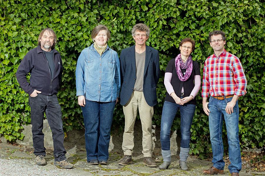 Die fünf Top-Kandidaten der Sunderner Grünen für die Wahl zum Rat: v. l. Guido Simon, Helena Brandes, Antonius Becker, Anke Rose und Fritz Arendt-Quandt. (Foto. Grüne)