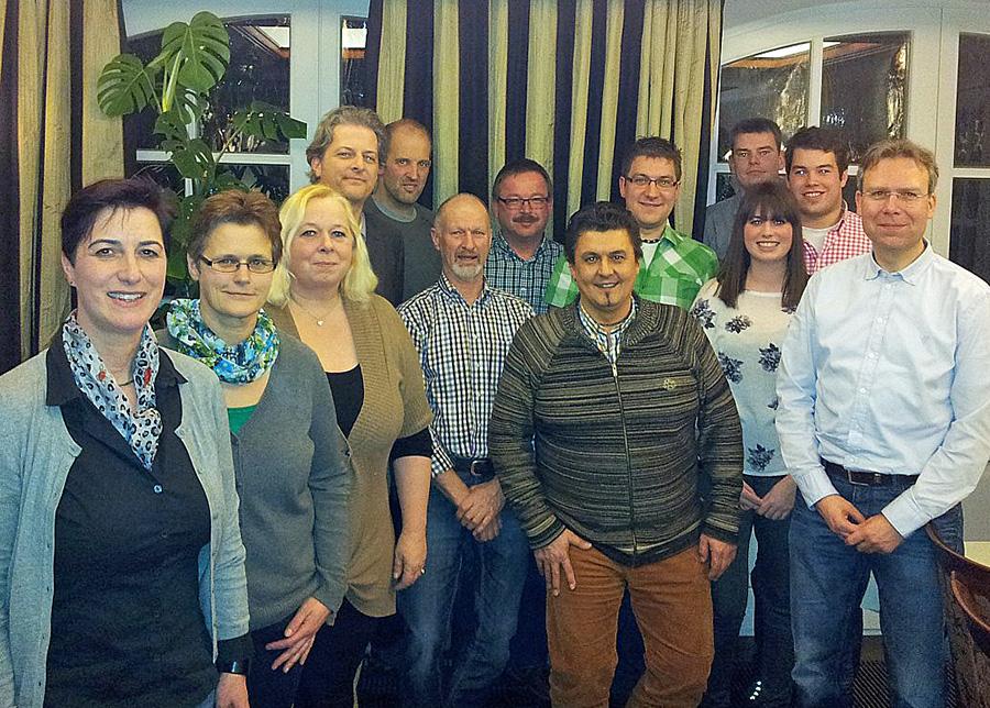 Der Vorstand der Dorfgemeinschaft Seidfeld. (Foto: Verein)