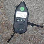 das neue Schallpegelmessgerät der Polizei war auch am osterwochenende im Einsatz. (Foto: Polizei)