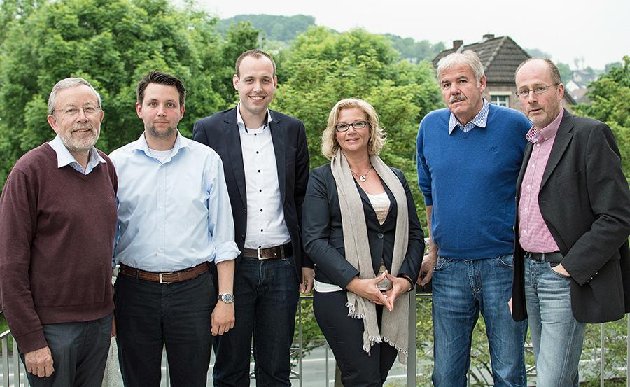 Der neue CDU-Fraktionsvorstand in Sundern: von  links Heinz-Gerd Pötter, Sebastian Booke, der neue Vorsitzende Stefan Lange, Sibylle Rohe-Tekath, hans-Friedrich Droste und Klaus Tolle. (Foto: CDU)