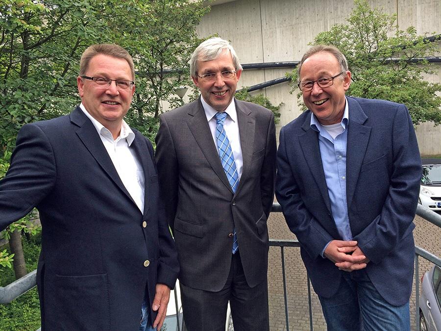 Der neue CDU-Fraktionvorstand im Arnsberger Rat. von links Jochem Hunecke, der alte und neue Vorsitzende Klaus Kaiser und Klaus Büenfeld. (Foto. CDU)