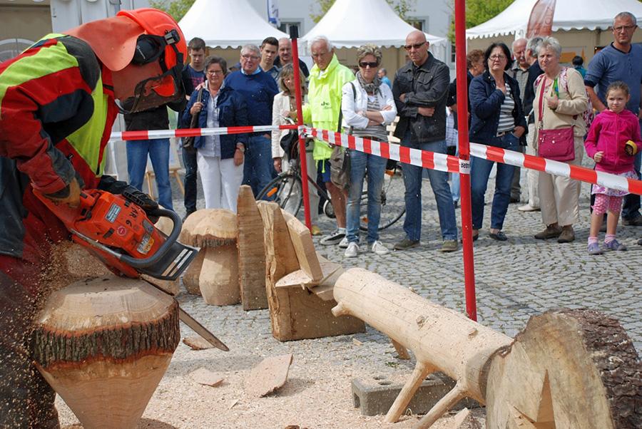 Auch Kunst mit der Motorsäge gab es beim ersten Holzmarkt 2013 zu bewundern. (Foto: Veranstalter)