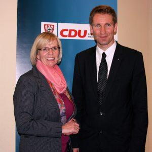 Gisela Schulte und Patrick Sensburg MdB (Foto: CDU Neheim)