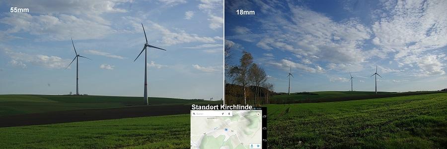 Insgesamt fünf Vergleichsbilder hat WiSu-Ratsmitglied Andreas Bahde im raum Hövel/Kirchlinde von jeweils gleichen Standorten mit unterschiedlichen Brennweiten fotografiert.
