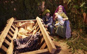 Die Lebende Krippe steht  am 6., 7., 10., 12. und 14. Dezember auf dem Arnsberger Weihnachtsmarkt. (Foto: Verkehrsverein)