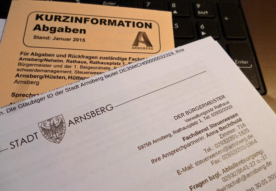 Über 30.000 Haushalte bekommen Post von der Stadt Arnsberg. (Foto: oe)