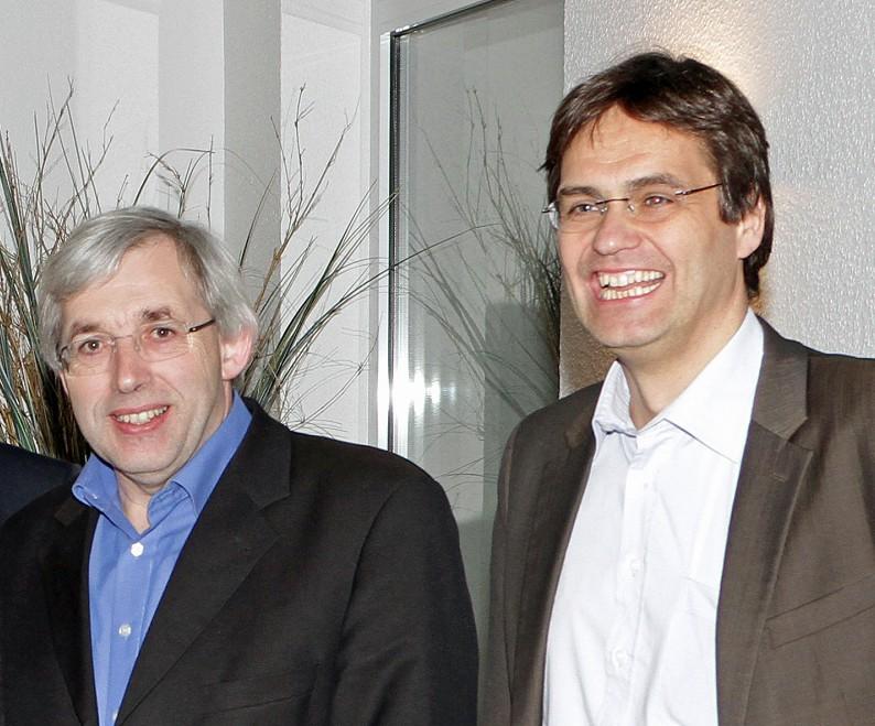 Sorgen sich im Gesundheitsversorgung: Landtagsabgeordneter und CDU-Bezirksvorsitzender Klaus Kaiser (links) und Europaabgeordneter Dr. Peter Liese. (Foto: CDU)