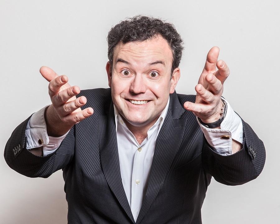 WDR2-Comedian Rene Steinberg gibt gleich zwei ausverkaufte Vorstellungen in der KulturSchmiede. (Foto: Veranstalter)