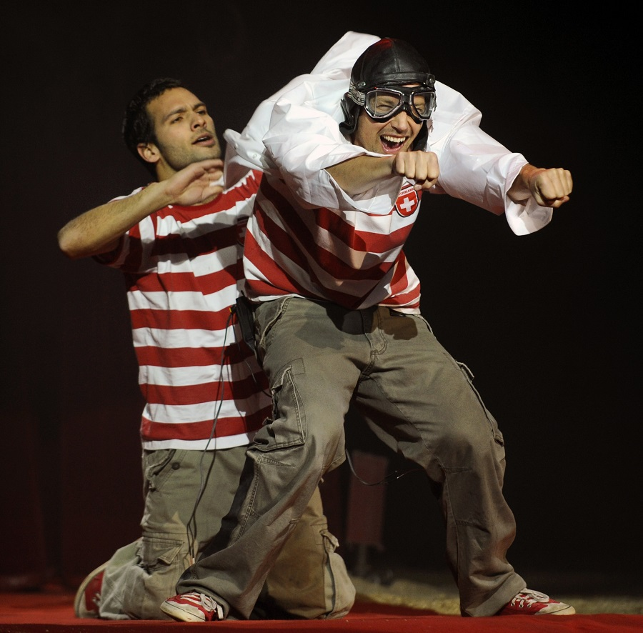 """Die Schweizer Comedy-Artistik-Gruppe """"Starbugs"""" trat schon bei Olympia in London auf und kommt jetzt nach Hagen. (Foto: Veranstalter)"""