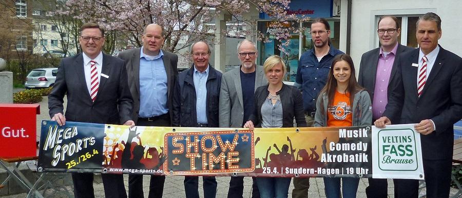 Organisatoren und Sponsoren bei der Vorstellung des Megasports-Programms. (Foto. oe)