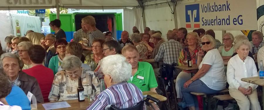 An Publikum fehlte es nicht an den scht Dämmerschoppen-Abenden. (Foto: Stadtmarketing)
