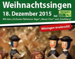 Erstmals laden die Neheimer Jäger zum Weihnachtssingen ein.