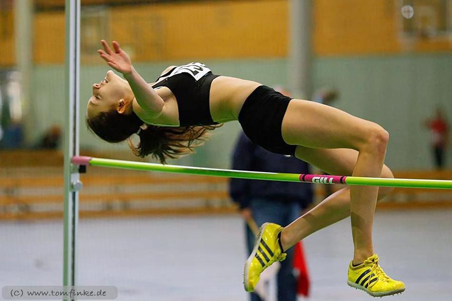 Marie Berghoff vom TuS Oeventrop übersprang erstmals 1,70 meter. (Foto: LAC)