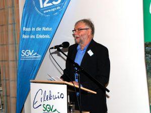Gerd Riedel, 1. Vorsitzender, begrüßte die vielen Festgäste (Foto: Klaus Peters)