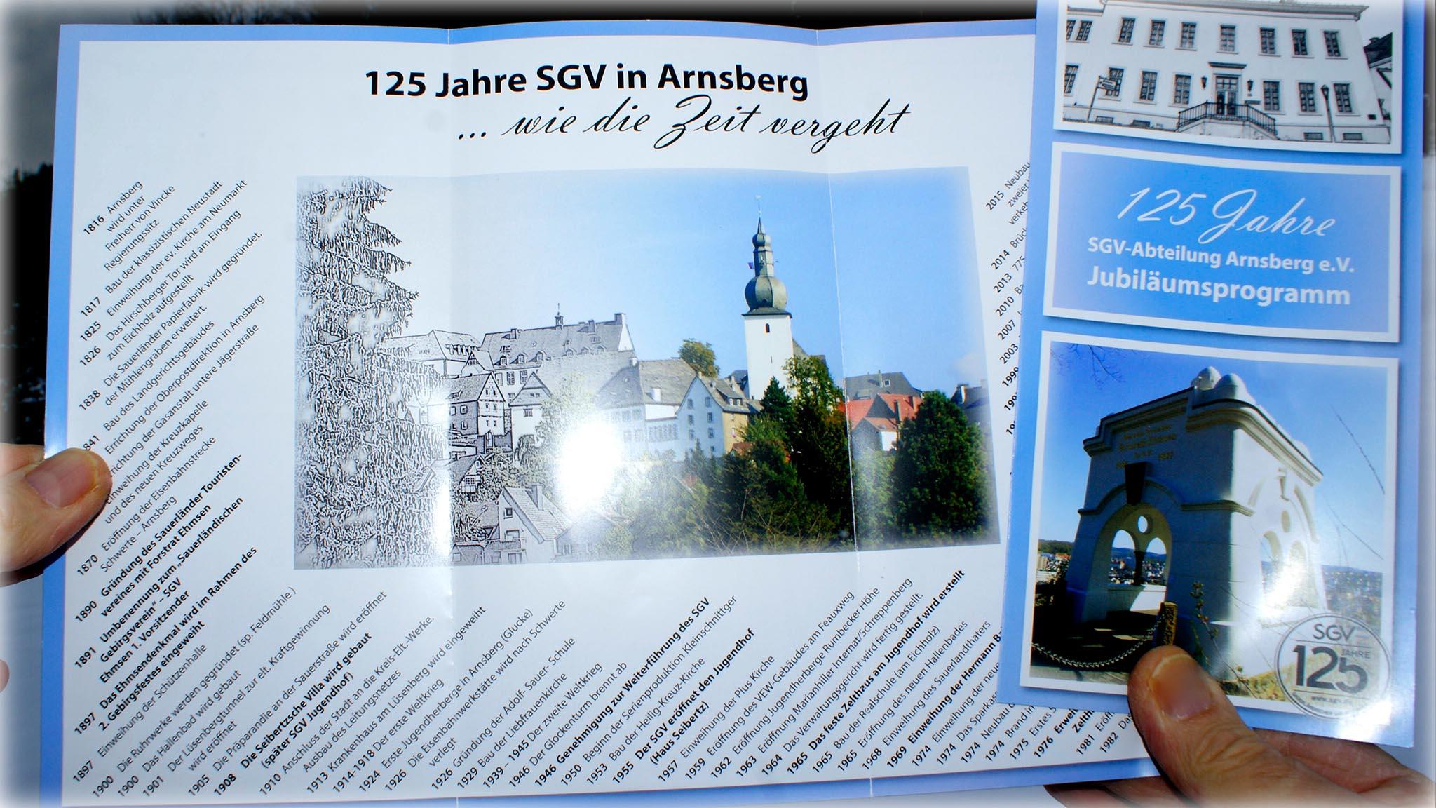 So schnell ist die Zeit vergangen: Der SGV in Arnsberg wird in diesem Jahr 125 Jahre alt (Foto: Klaus Peters)