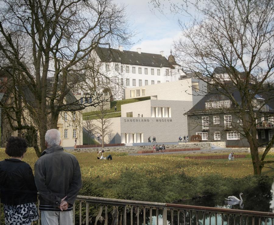 So soll künftig der Blick von der Kosterbrücke Richtung Sauerlandmuseum aussehen.