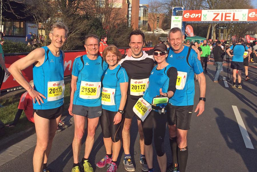 Erfolgreiche LAC-Teilnehmer beim Osterlauf in Paderborn. (Foto: LAC)