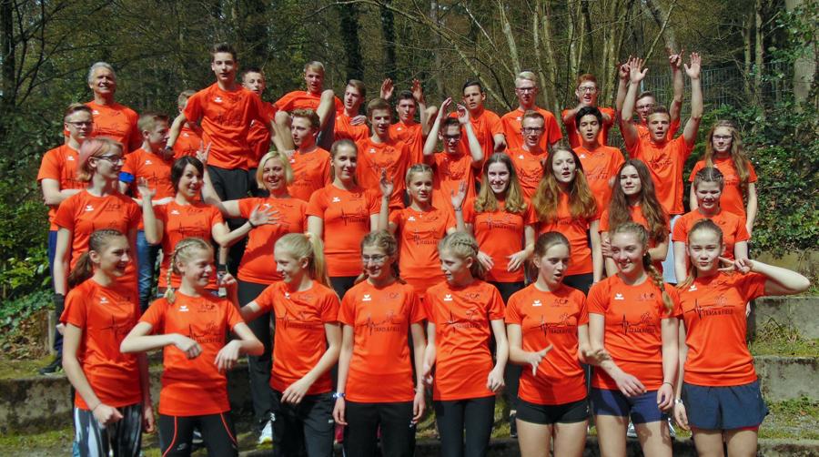 34 Leichtathleten des LAC Veltins nahmen am Ostertrainingslager in Freiburg teil. (Foto: LAC)