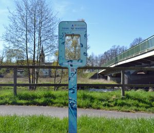 Der neue Trinkwasserspender an der Glösinger Brücke in Oeventrop. (Foto: Stadtwerke)
