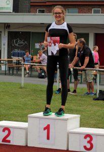 Marie Berghoff aus Oeventrop stand zweimal ganz oben auf dem Treppchen. (Foto: LAC)